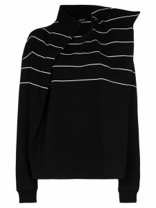 Y/Project Trench striped cotton T-shirt - Black