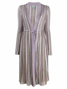 M Missoni striped long-line cardigan - PURPLE