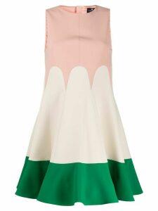 Elisabetta Franchi flared colour-block dress - PINK