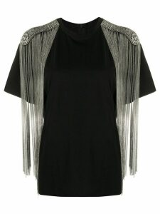 Christopher Kane chain fringe T-shirt - Black