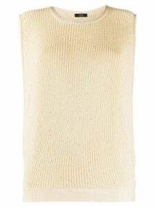 Peserico embellished knitted vest - NEUTRALS