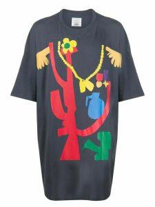 Faith Connexion x Swizz Beatz Todd James oversized T-shirt - Grey