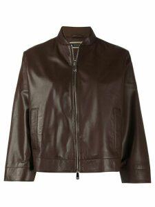Peserico cropped sleeves jacket - Brown