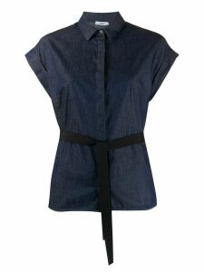 Peserico belted denim shirt - Blue