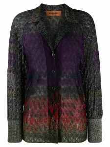 Missoni metallic zig-zag gradient shirt - PURPLE