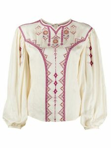 Isabel Marant Étoile embroidered top - NEUTRALS
