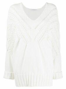 Vivetta v-neck oversized jumper - White