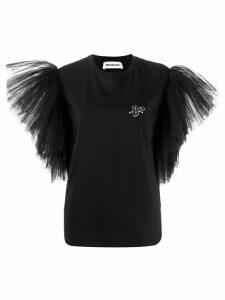 Brognano tulle-panelled T-shirt - Black