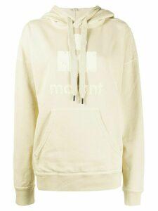 Isabel Marant Étoile oversized logo print hoodie - NEUTRALS
