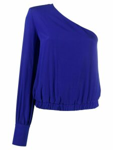 Federica Tosi crepe one-shoulder top - Blue