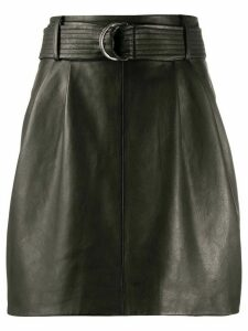 P.A.R.O.S.H. leather straight skirt - Black