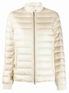 Woolrich feather down padded jacket - NEUTRALS