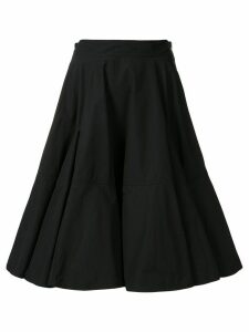 We11done tiered flared midi skirt - Black