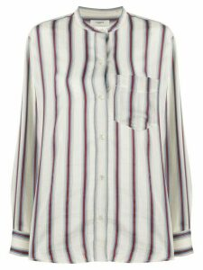 Isabel Marant Étoile Satchel striped print shirt - White