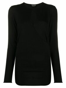 Tom Ford wrap style knitted top - Black