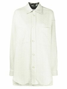 Faith Connexion Ace Tweed over-shirt - White