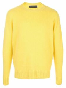 The Elder Statesman crew-neck cashmere jumper - Yellow