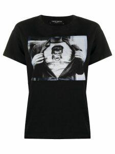 Frankie Morello Bowie print crew neck T-shirt - Black