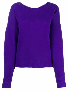 Isabel Marant button-back blouson-sleeved cardigan - PURPLE