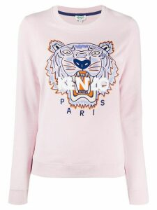 Kenzo tiger logo-embroidered sweatshirt - PINK