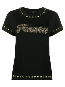 Frankie Morello studded crew neck T-shirt - Black