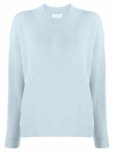 Christian Wijnants ribbed knit raglan sweater - Blue