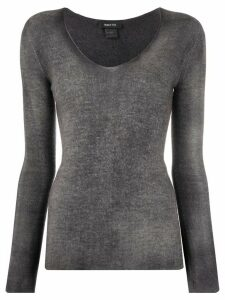 Avant Toi fine knit long sleeve top - Grey