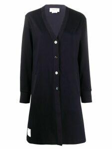 Thom Browne A-line V-neck cardigan - Blue