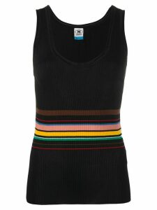 M Missoni striped-waist ribbed tank top - Black
