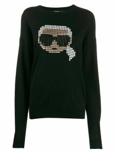Karl Lagerfeld Karl pixel sweater - Black