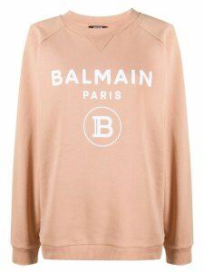 Balmain logo print sweatshirt - NEUTRALS