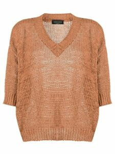 Roberto Collina oversized fit jumper - Brown