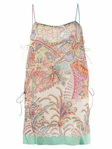 Etro paisley print camisole top - NEUTRALS