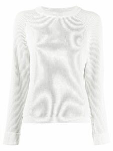 Lorena Antoniazzi star intarsia ribbed jumper - White
