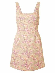 Rebecca Vallance Stella floral mini dress - GOLD