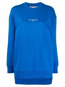Stella McCartney logo print sweatshirt - Blue