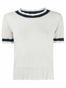 Lorena Antoniazzi short-sleeve knit top - Grey