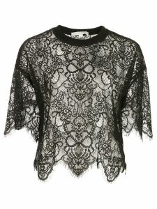 Jonathan Simkhai cropped lace top - Black