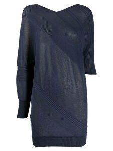 Antonio Marras asymmetric ribbed detail jumper - Blue