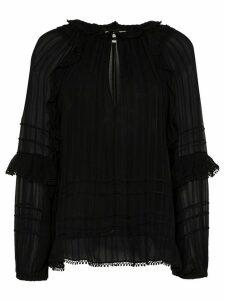 Isabel Marant Étoile Jayden keyhole neckline ruffled blouse - Black