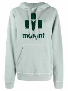 Isabel Marant Étoile printed logo hoodie - Blue