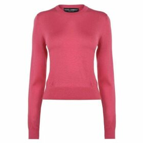 Dolce and Gabbana Crew Neck Solid Knitted Jumper