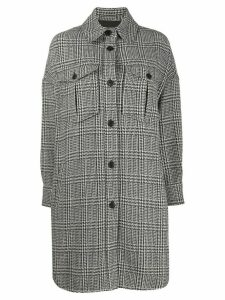 Isabel Marant Étoile houndstooth shirt jacket - Black