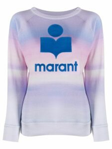 Isabel Marant Étoile logo print watercolour jumper - Blue