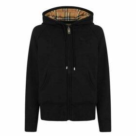 Burberry Logo Hooded Zip Sweatshirt