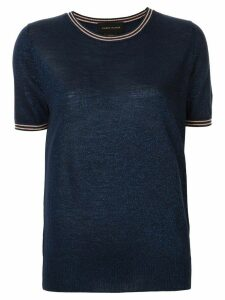 Karen Walker Apollo knit T-shirt - Blue