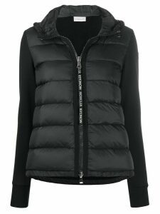 Moncler quilted zipped puffer jacket - Black