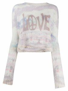 AMIRI intarsia knit cashmere jumper - PURPLE