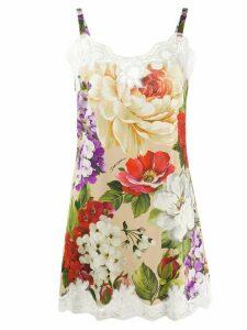 Dolce & Gabbana floral print top - White