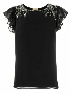 LIU JO bead embellished blouse - Black